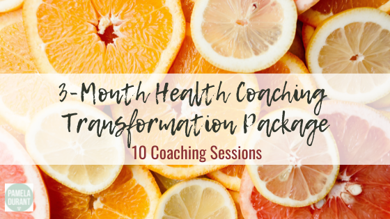 Health coaching transformation package with Pam Durant